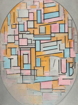 Piet Mondrian (1872-1944) Composition in Oval with Colour Planes 2, 1914