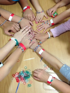 Italian themed loom bands