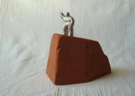Aluminium figure on terra cotta base, Limited edition of 15, 2014