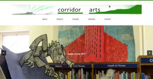 corrdor arts homepage frame grab