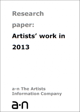 artists work 2013 cover