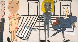 Rose Wylie, PV Windows and Floorboards, winner of the 2014 John Moores Painting Prize