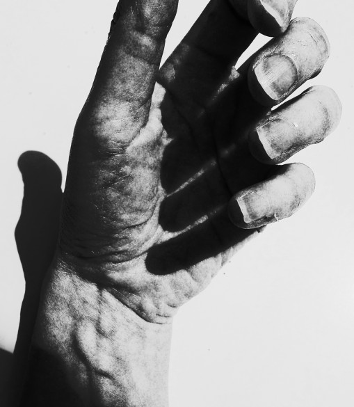 Hand (2014) Colour photograph, photoshopped