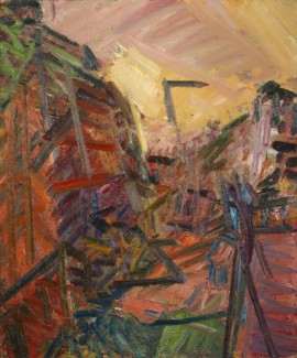 Frank Auerbach: Mornington Crescent – Winter morning. © Frank Auerbach, Courtesy of Tate.