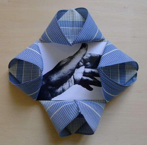 work-in-process (2014) - folded handkerchief, photograph