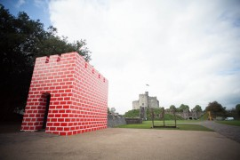 Richard Wood, Cardiff Rebuild, Cardiff Contemporary 2014 commission at Cardiff Castle