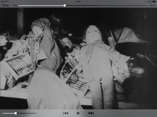 Screenshot from Billy Wilder: The Death Mills, 7 min 36 sec in