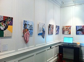 "Installation view of the ""Torn Justice"" exhibition."