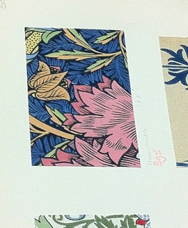 More Honeysuckle & Tulip in the V&A sample book - this time a riot of flash pastels.