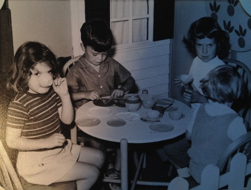 Tea cup play on the Canberra sailing to America 1967