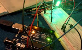 arduino uno with breadboard