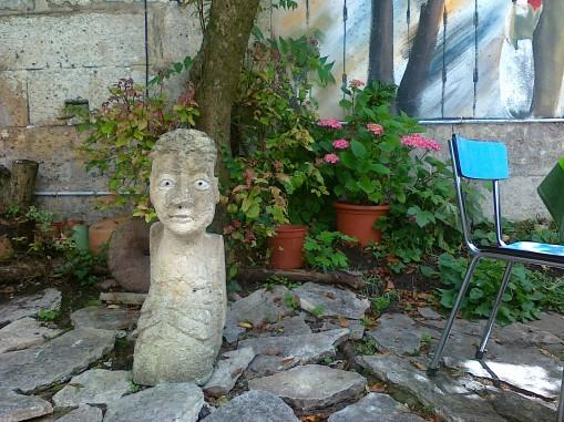 Sculpture in Cafe garden