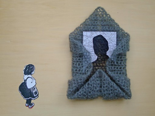 Materials: Crochet, photographs, cut-outs