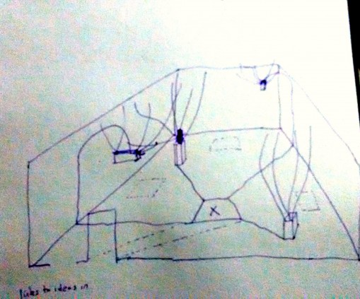 a drawing of an installation idea