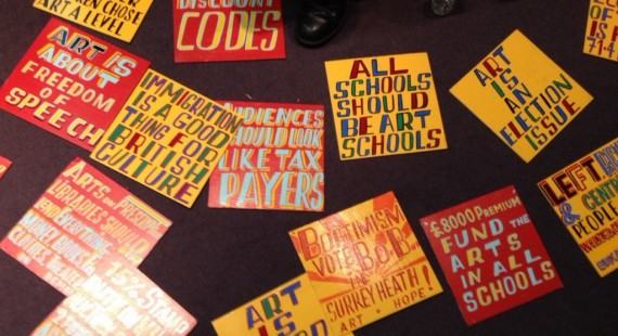 Bob and Roberta Smith's manifesto. Photo