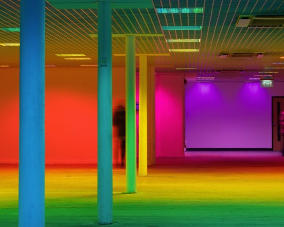 Liz West bathes Federation House, Manchester in chromatic light