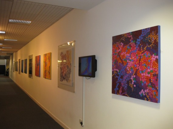 Exhibition with paintings by Tessa Coe and PhD students from University of Southampton's Institute for Complex Systems Simulation