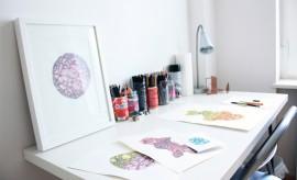 jenny core, studio, berlin, art, drawing