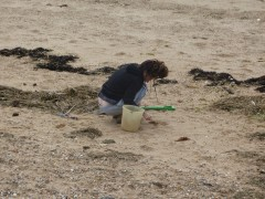 collecting sand
