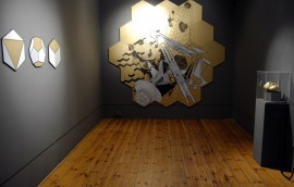 Mike Inglis, installation view, Dark Matters, Edinburgh Printmakers