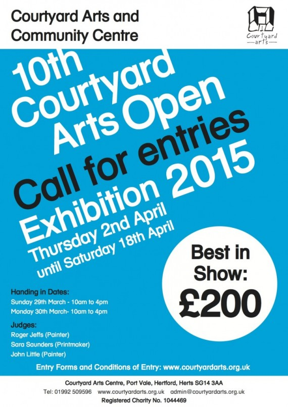 Call for Entries - reminder - Submissions March 29 and 30