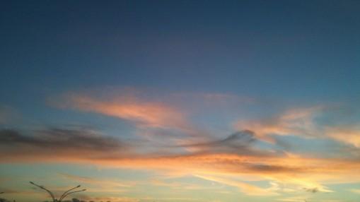photo of a Sunset sky, nr Cranborne Chase, Dorset, 2013