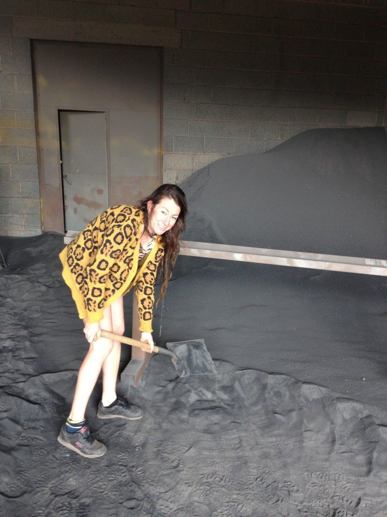 me in the sand blasting room