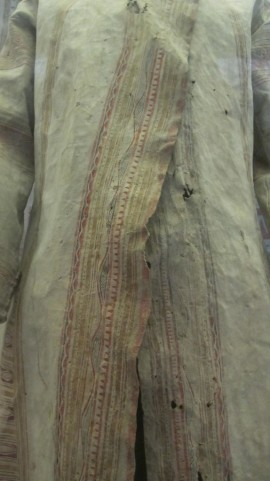 "In Glasgow, and thinking about ""Angel's Nightie"": hunting coat made out of caribou hide"