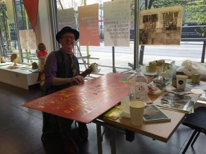 Bob and Roberta Smith at Arts Emergency Response Centre
