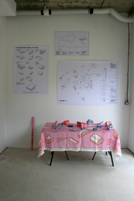 Installation image from exhibition at Aid and Abet, Cambridge.