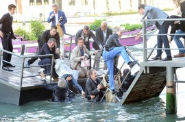 Rich people fall in the canal, ha ha ha