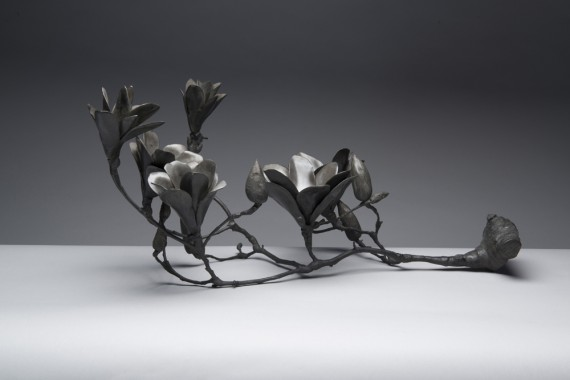 bronze, magnolia branch