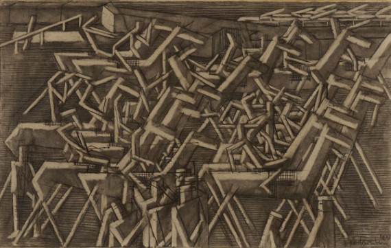David Bomberg, Racehorses, 1913