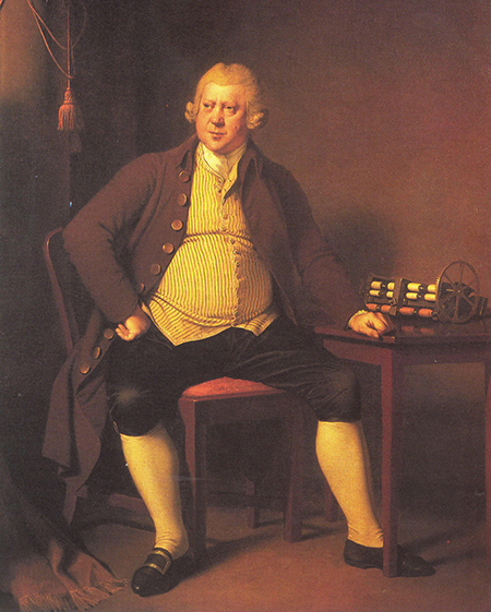 Sir Richard Arkwright, Portrait by Joseph Wright of Derby, 1790.