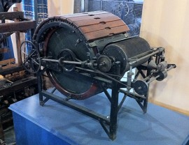 Arkwright's carding engine, exhibited in the Museum of Science and Industry, Manchester