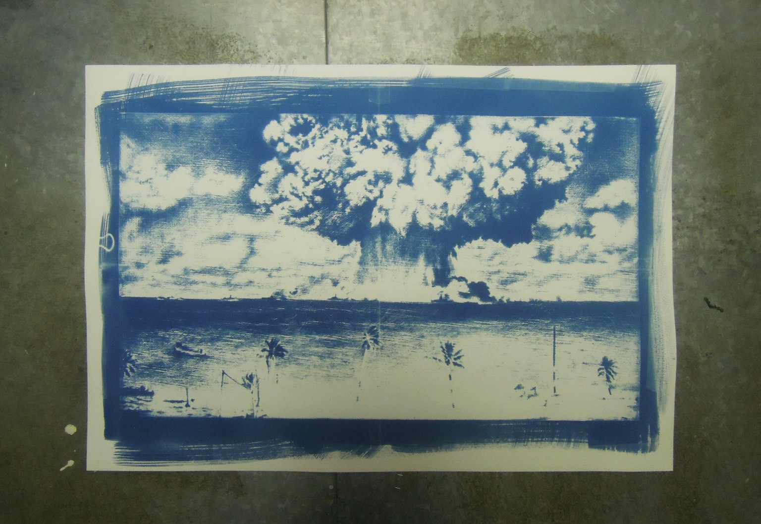 cyanotype baker, nuclear tests, atomic, kirsty harris