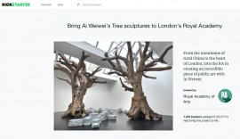 The Royal Academy's Kickstarter campaign for Ai Weiwei's Tree sculptures