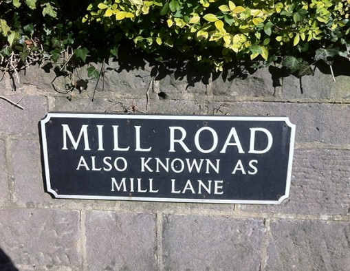 Road sign in Cromford