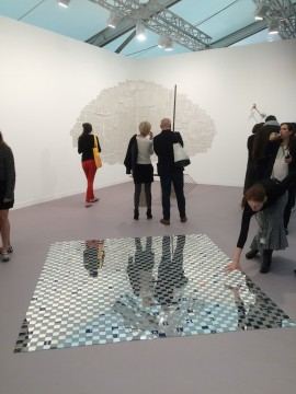 kurimanzutto stand, featuring work by Abraham Cruzvillegas, Frieze London 2015