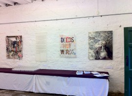 Tangled Yarns exhibition - installation view at Cromford Mills