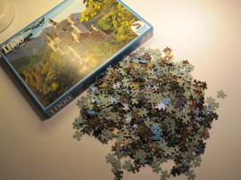One evening I clear the studio table and took up a 'new' puzzle.