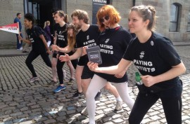 Paying Artists relay race in Bristol