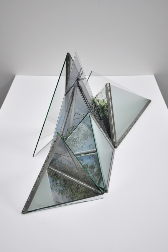 Model for a crystal geometry, glass, stainless steel, acetate, 2015