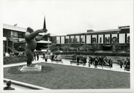 Nicholas Monro, King Kong, for the City Sculpture Project, 1972, the Bull Ring Birmingham. Eight cities were loaned sculptures by emerging artists with the option to buy them. Only one of the 16 pieces commissioned was kept in situ. Some were even deliberately destroyed highlighting the negative attitude to 'modern' art. © Arnolfini Archive