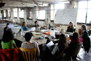 Discussion group at Islington Mill (2008)