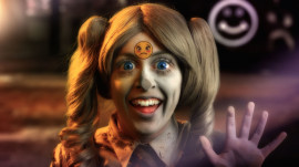 Rachel Maclean, Feed Me, Scene 12, 2015, HD video, Courtesy the artist and Film and Video Umbrella (FVU), Copyright Rachel Maclean, 2015