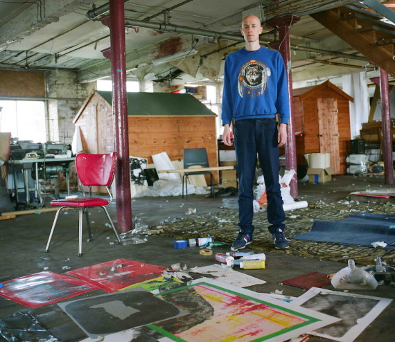 Maurice Carlin in his studio at Islington Mill