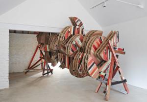 Phyllida Barlow, grinder (installation view), Hauser & Wirth Somerset, 2015, copyright Phyllida Barlow