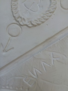 carving, plaster cast
