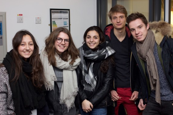 Film students at screening of This-That, March 2016